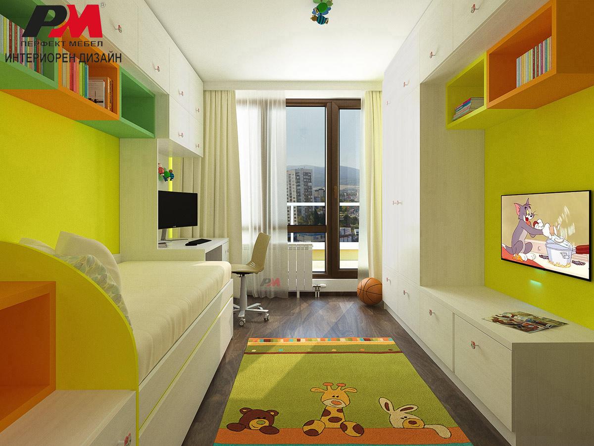 Модерен дизайн на детско спално помещение
