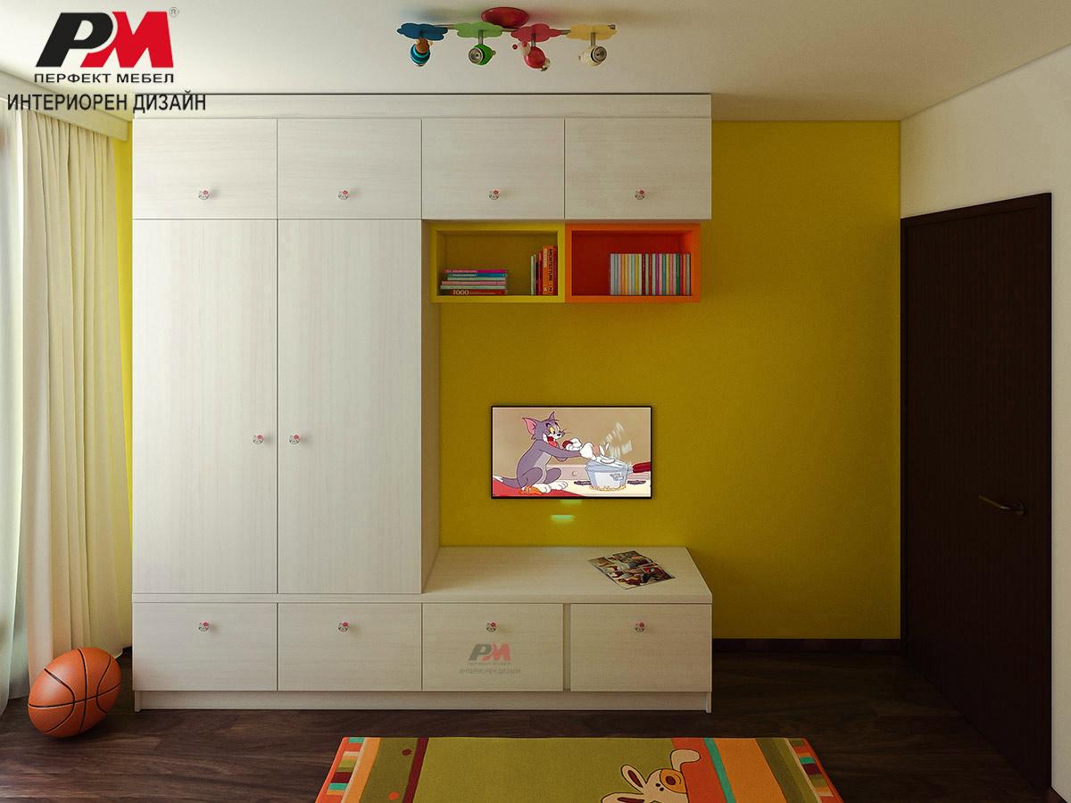 Дизайн на детска стая от слънчева цветова палитра