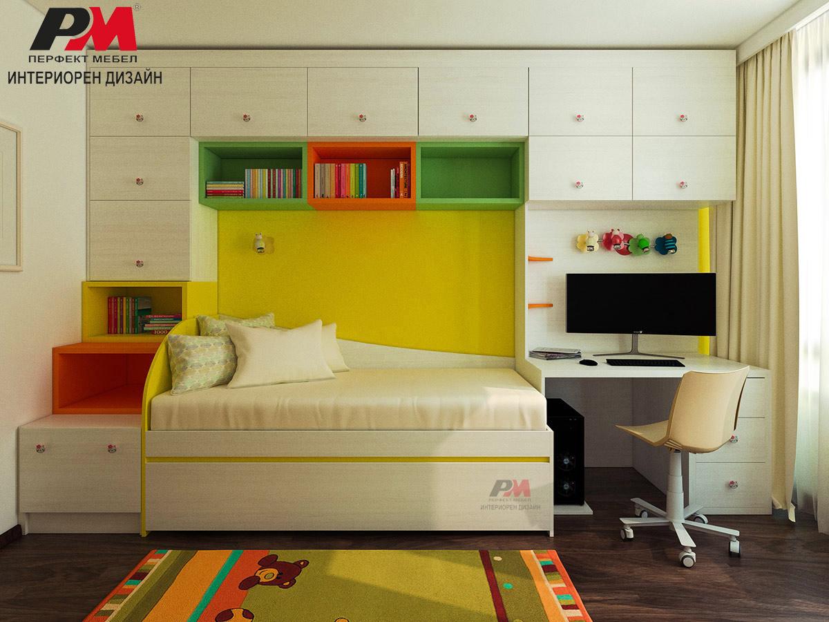 Функционален и модерен дизайн на детска стая