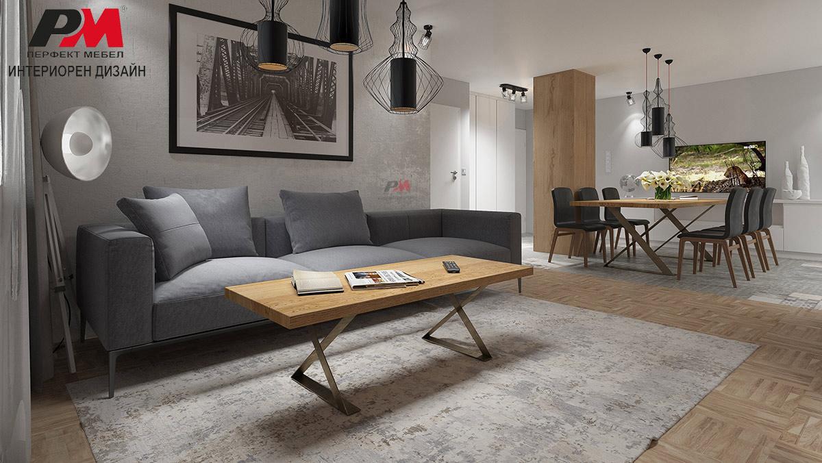 Модернистично винтидж излъчване в съвременното градско жилище