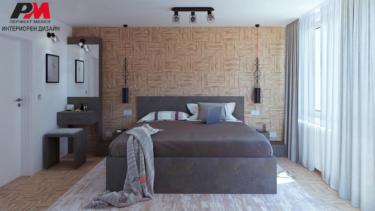 Сдържаност и лаконичност в интериорния дизайн на градска спалня