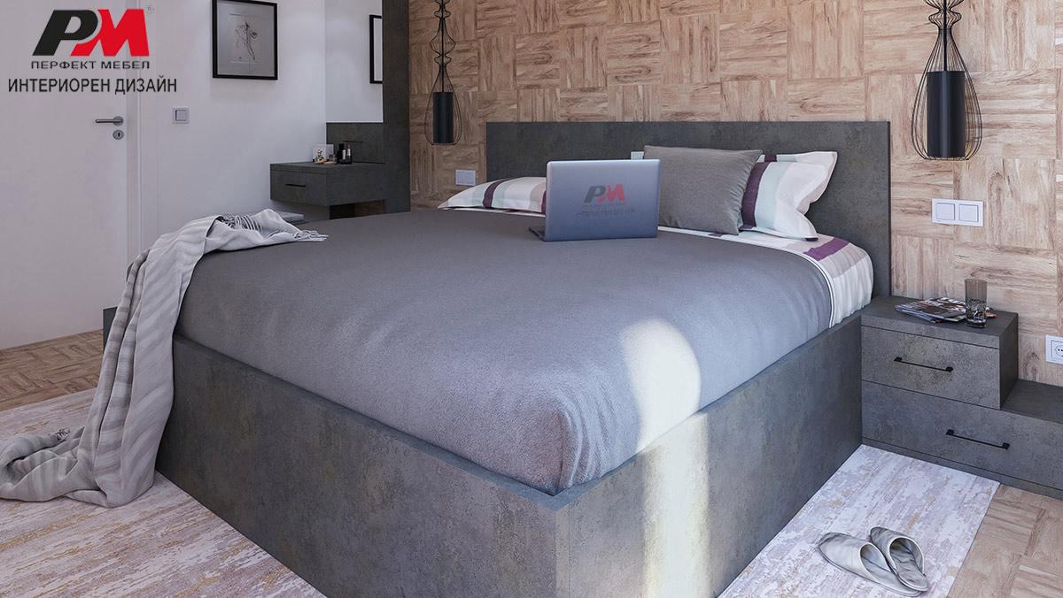 Семпъл интериор на спалня в модерни тонове