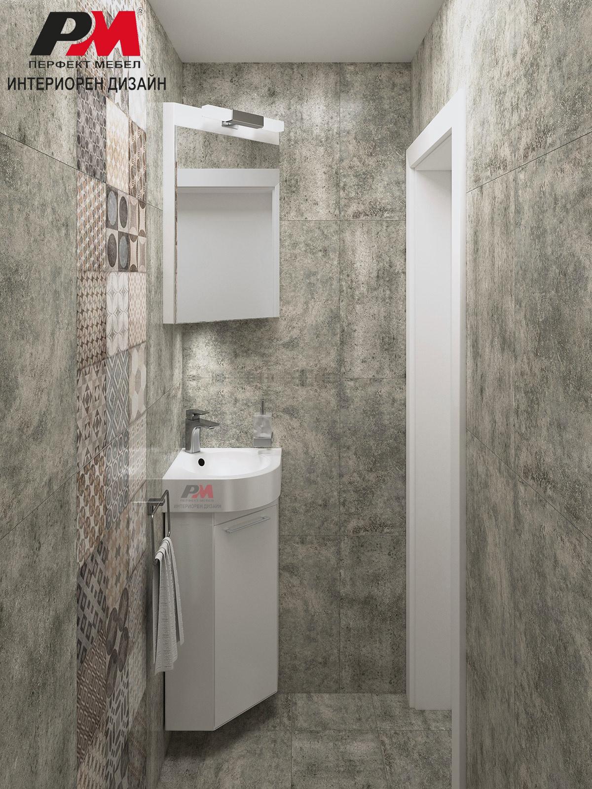 Декоративни плочки и бетон в единно съчетание