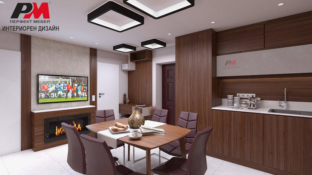 Модерен и уютен интериорен дизайн на мултифункционално пространство