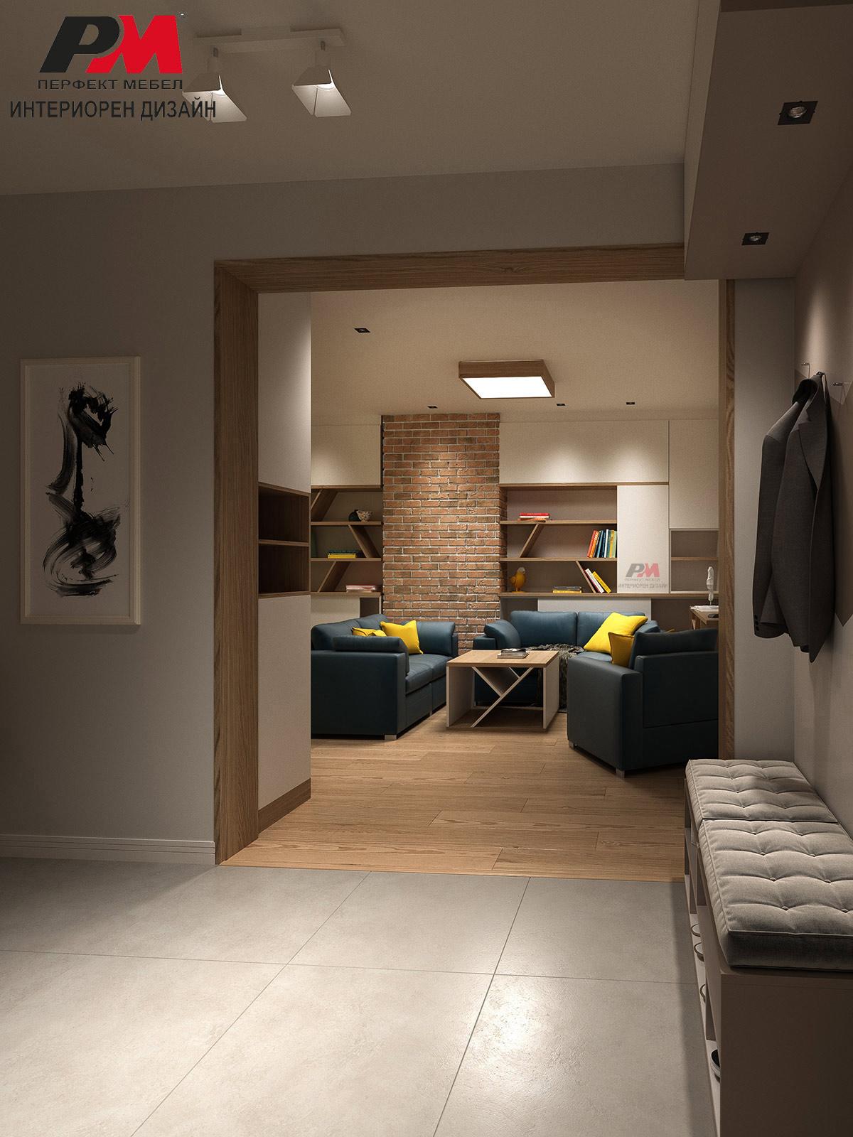 Топлина, уют и ретро нотка в интериорния дизайн на дневно помещение