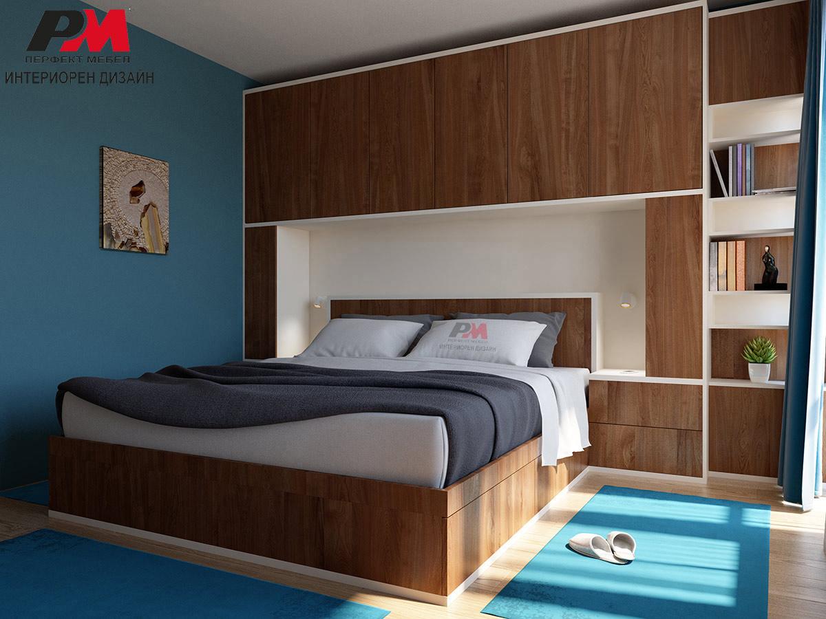 Елегантен интериорен проект на спалня в луксозно градско жилище