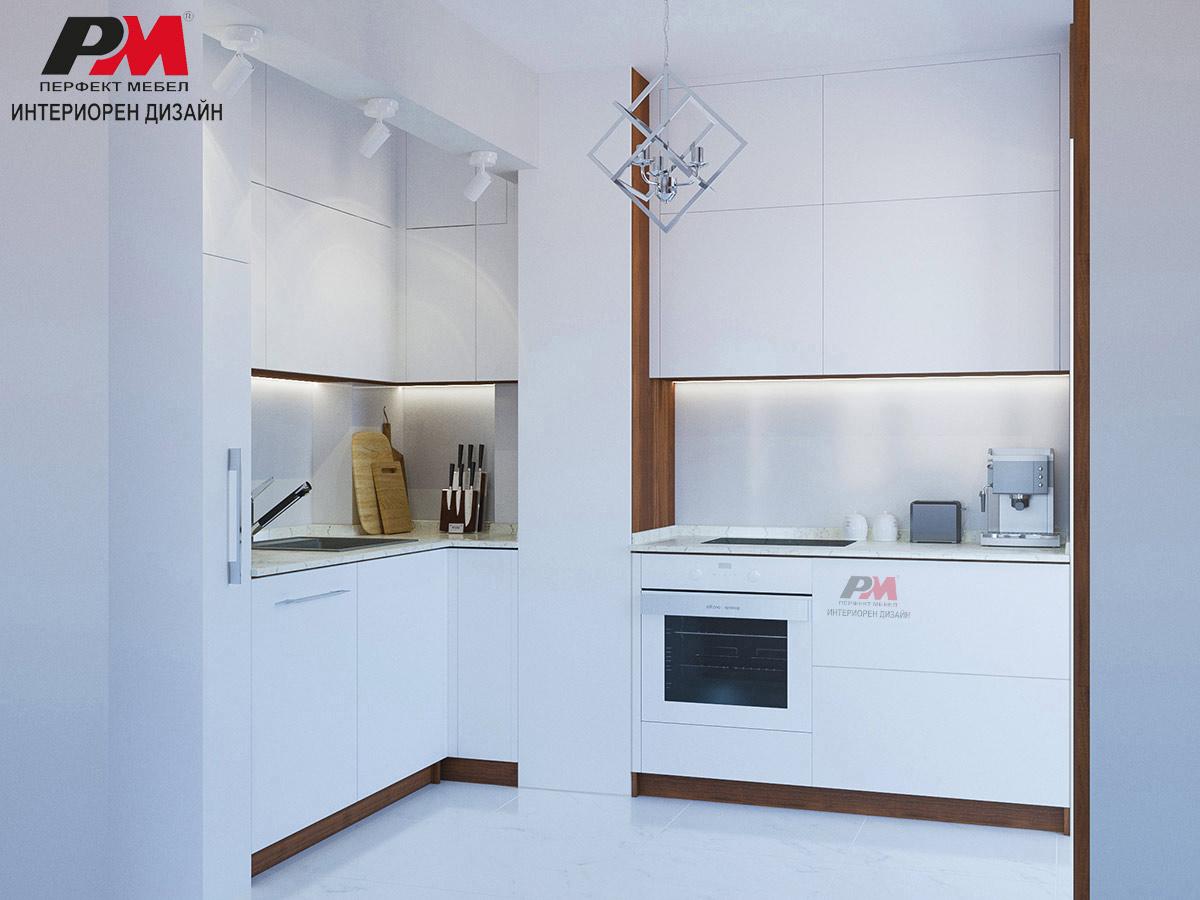 Изчистена форма и линия в дизайна на кухня.