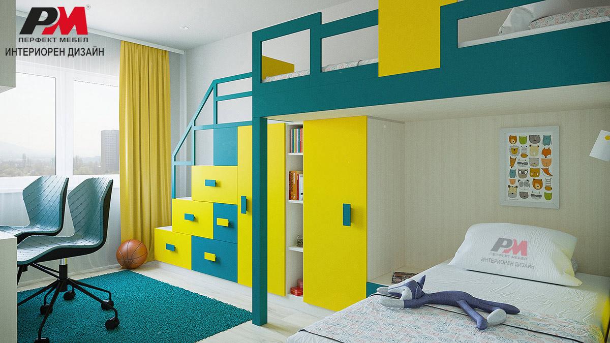 Колоритен интериорен дизайн на детска стая в съвременно градско жилище