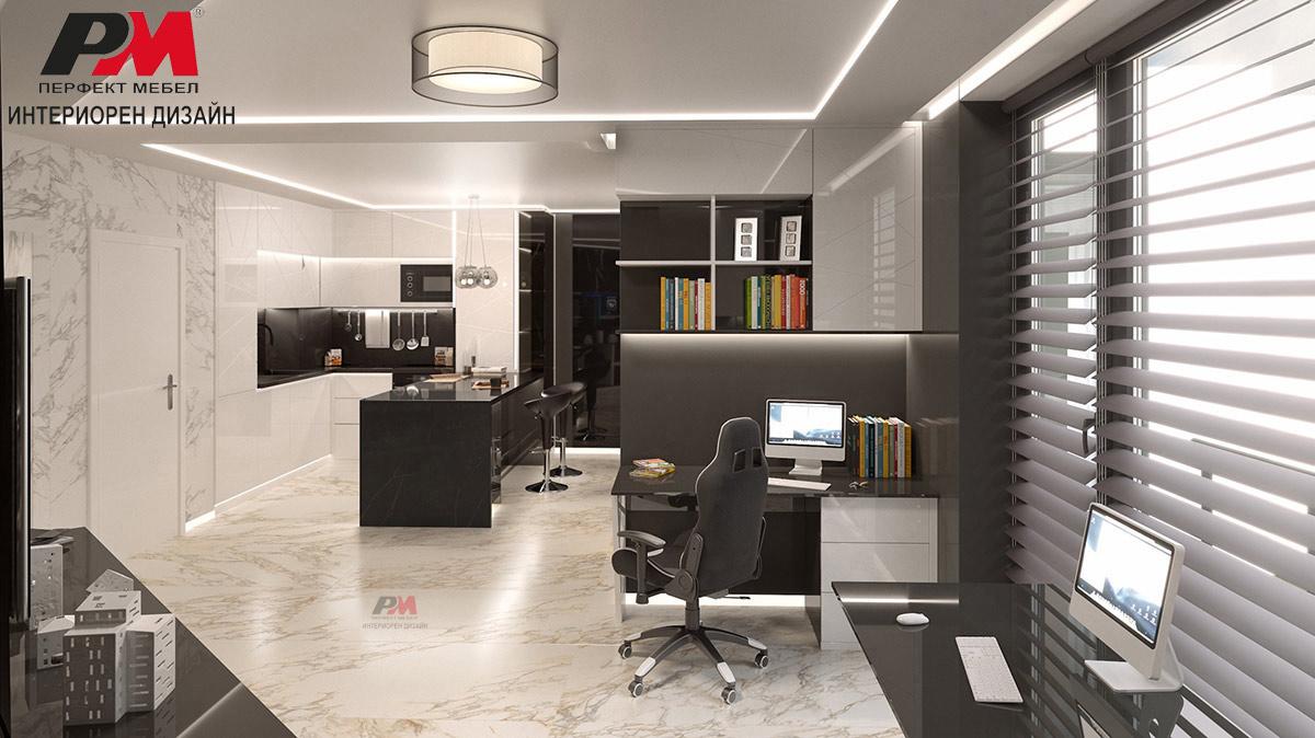 Елегантно многофункционално пространство в модерен стил