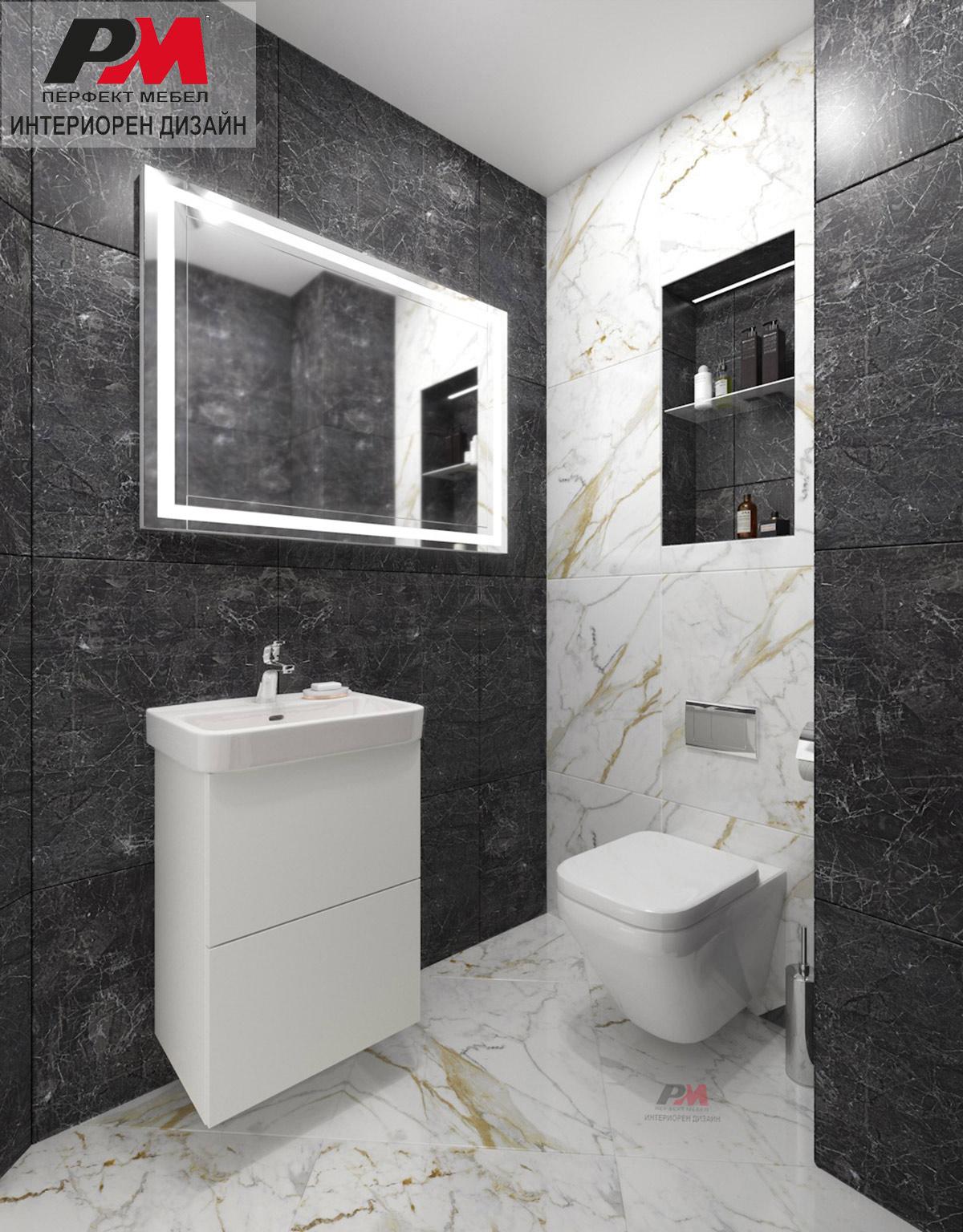 Ахроматични цветове в дизайна на тоалетната.