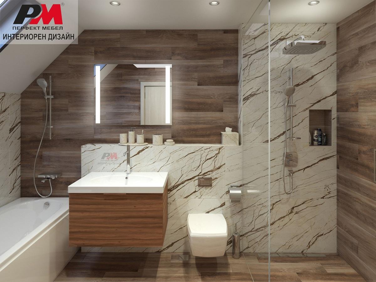 Модерна и функционална баня с луксозно обзавеждане