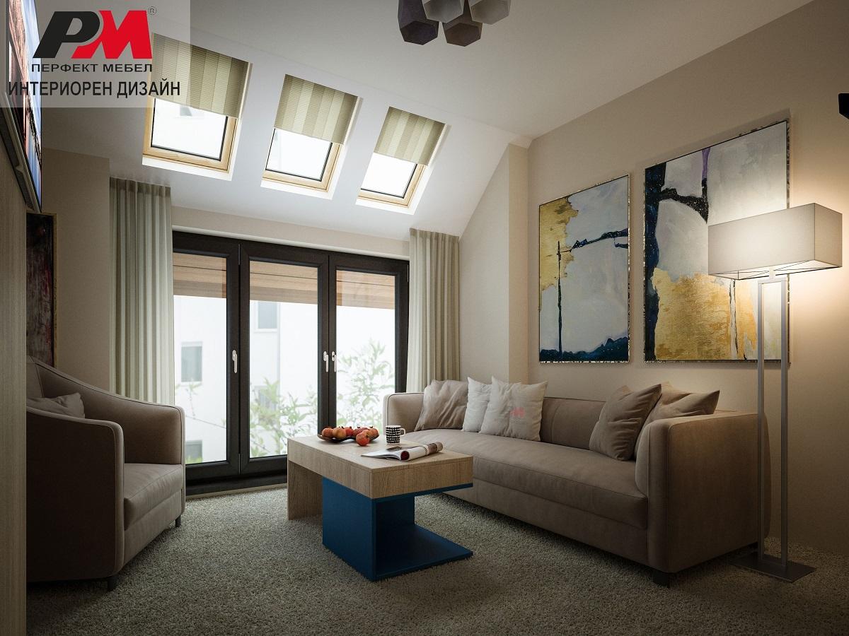 Усещане за топлина и уют в гостно помещение в модерен стил.