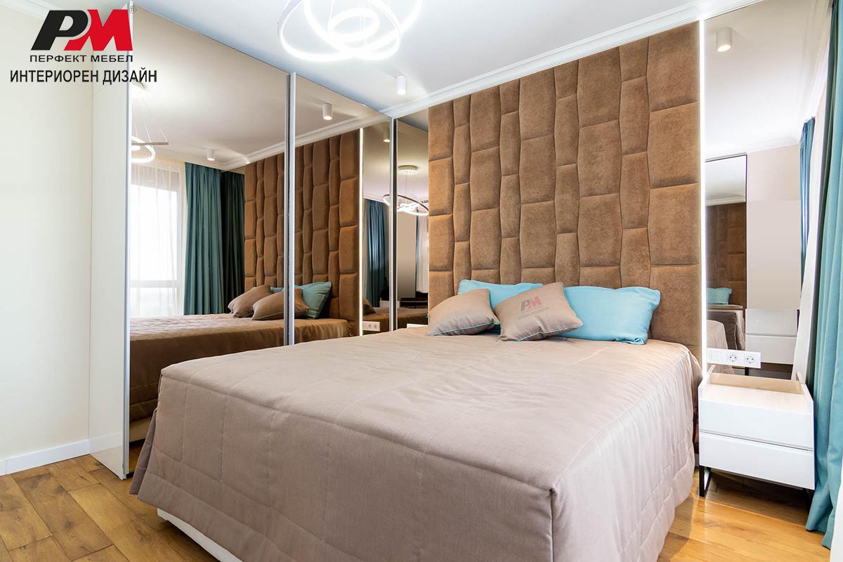 Функционално и оригинално интериорно решение на спалня в модерен стил